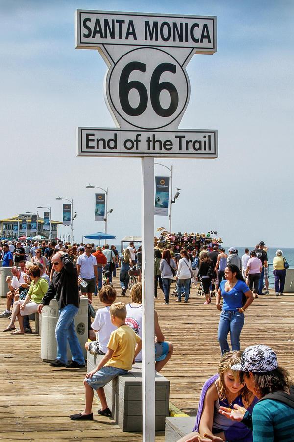 Route 66 End Of The Trail Santa Monica Pier Photograph