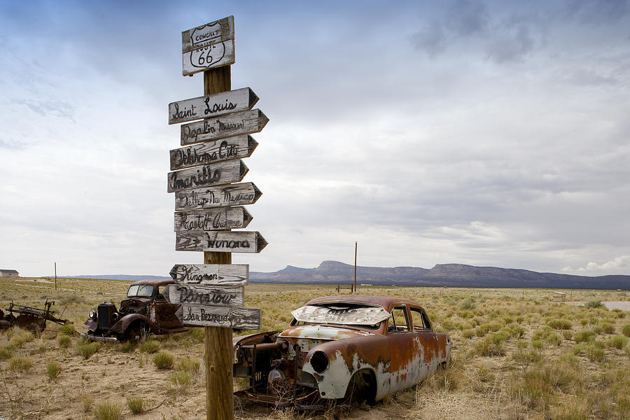 Route 66 Photograph - Route 66 In Arizona by Carol M Highsmith
