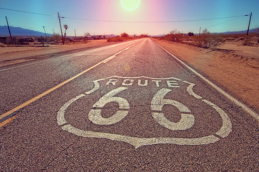 Route 66 Photograph - Route 66 by Joan Escala