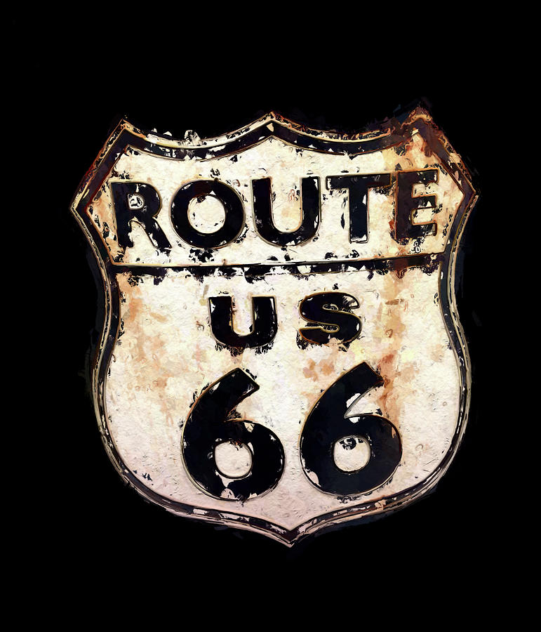 Route 66 Sign by Morgan Carter