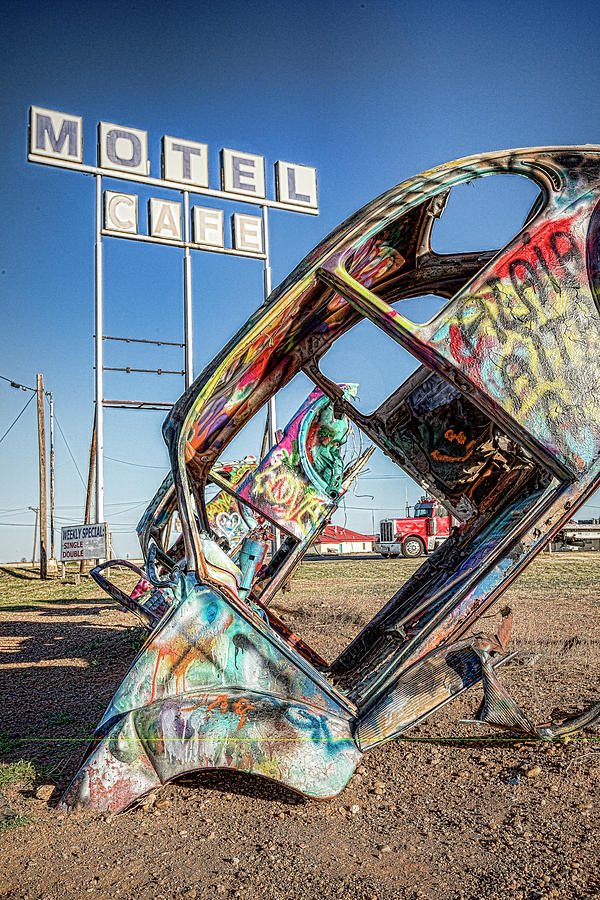 Route 66 Photograph - Route 66 Vw Slug Bug Ranch by Stephen Stookey