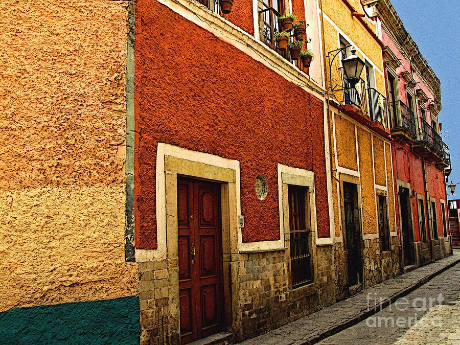 Darian Day Photograph - Row Of Casas Guanajuato by Mexicolors Art Photography