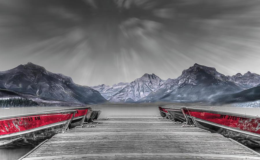 Lake Photograph - Row Row by Mark Dunton