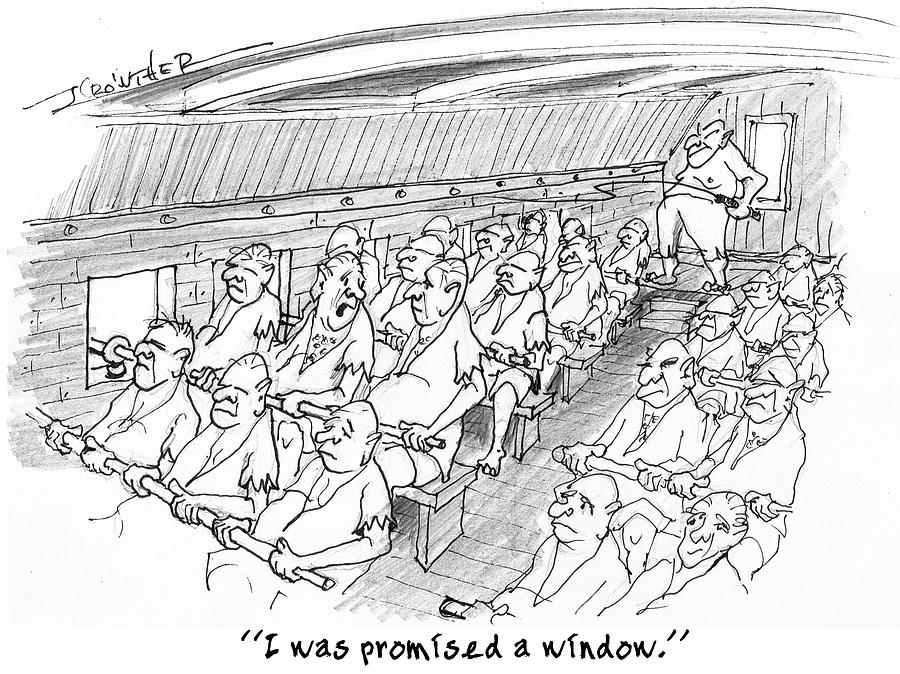 Humor Drawing - Row Row Row by John Crowther