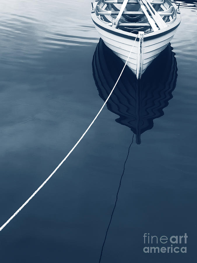 Icelandic Photograph - Row Row Row Your Boat Life Is But A Dream by Edward Fielding