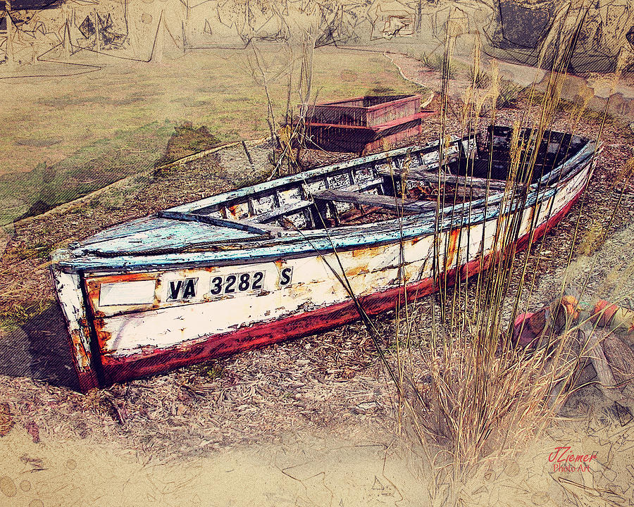Boat Photograph - Rowboat Modified by Jim Ziemer