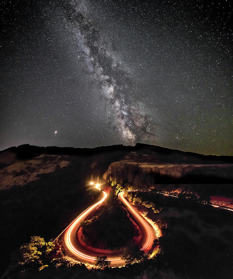 Pnw Photograph - Rowena Milky Way by Wes and Dotty Weber