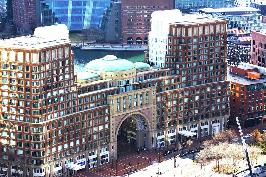 Building Photograph - Rowes Wharf Building by Ruth H Curtis