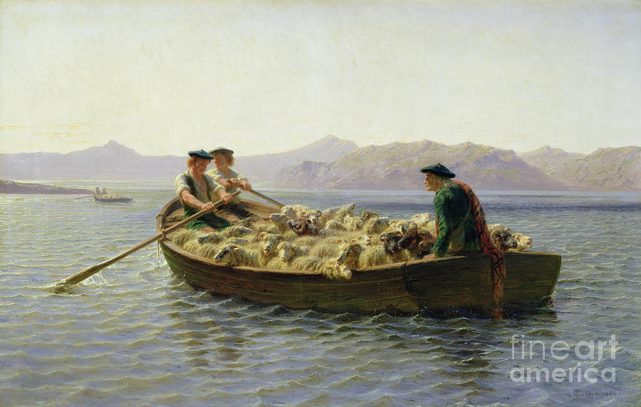 Rowing Boat Painting - Rowing Boat by Rosa Bonheur