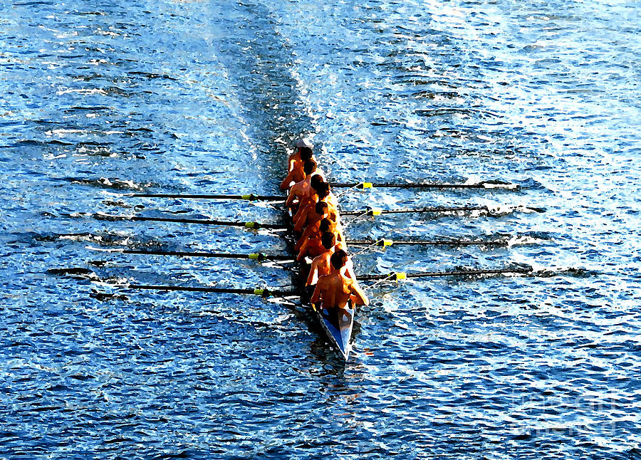 Rowing Photograph - Rowing In by David Lee Thompson