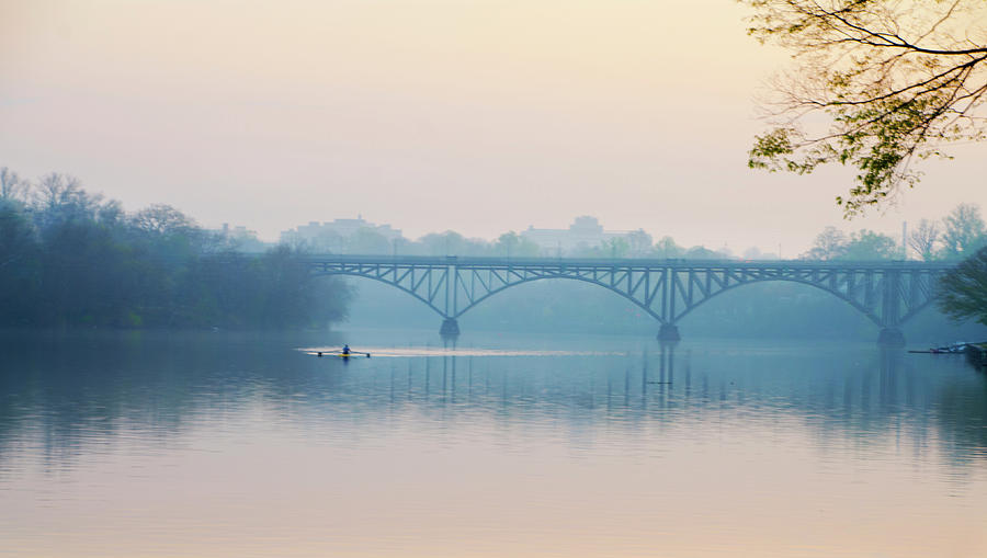Rowing Photograph - Rowing On The Schuykill In The Springtime by Bill Cannon