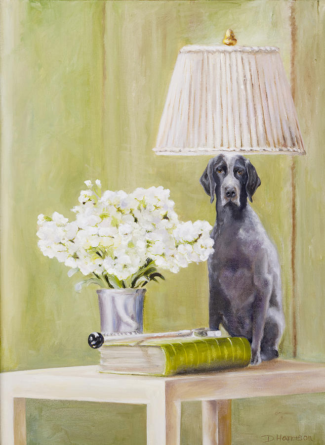 Flowers Painting - Roxy Being Bad by Denise H Cooperman