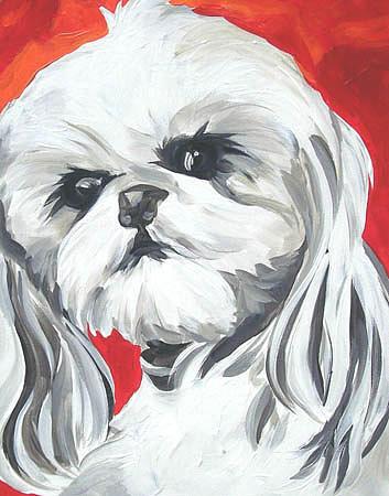 Dog Painting - Roxy Star by Alli Berglund
