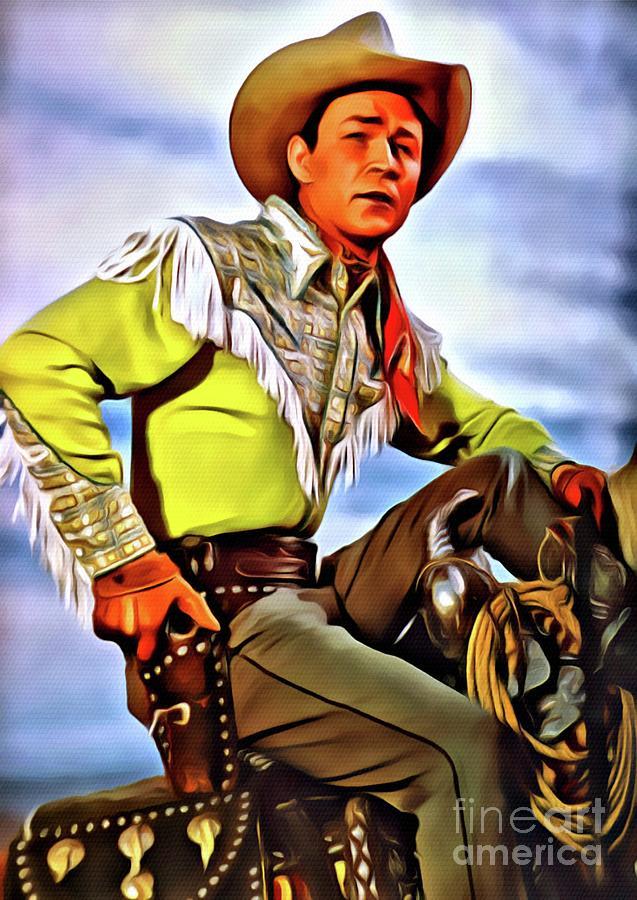 Roy Rogers, Hollywood Legend Digital Art