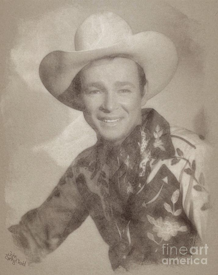 Roy Rogers, Western Star And Singer Drawing