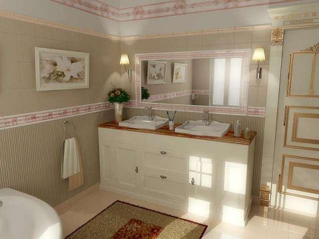 Royal Bath Vanity For Presidential Hotel Suit Designed By Walid Fahmi Drawing by Walid Fahmy
