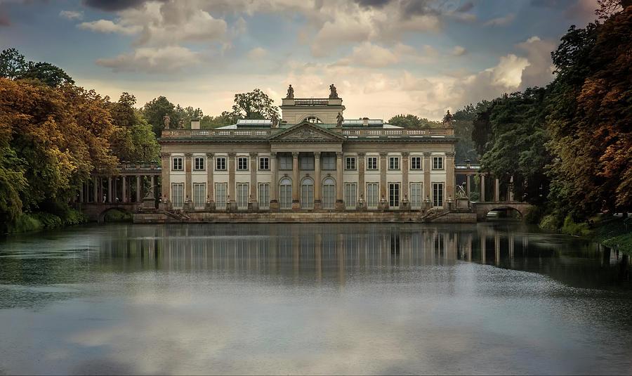 Old Photograph - Royal Baths In Warsaw by Jaroslaw Blaminsky