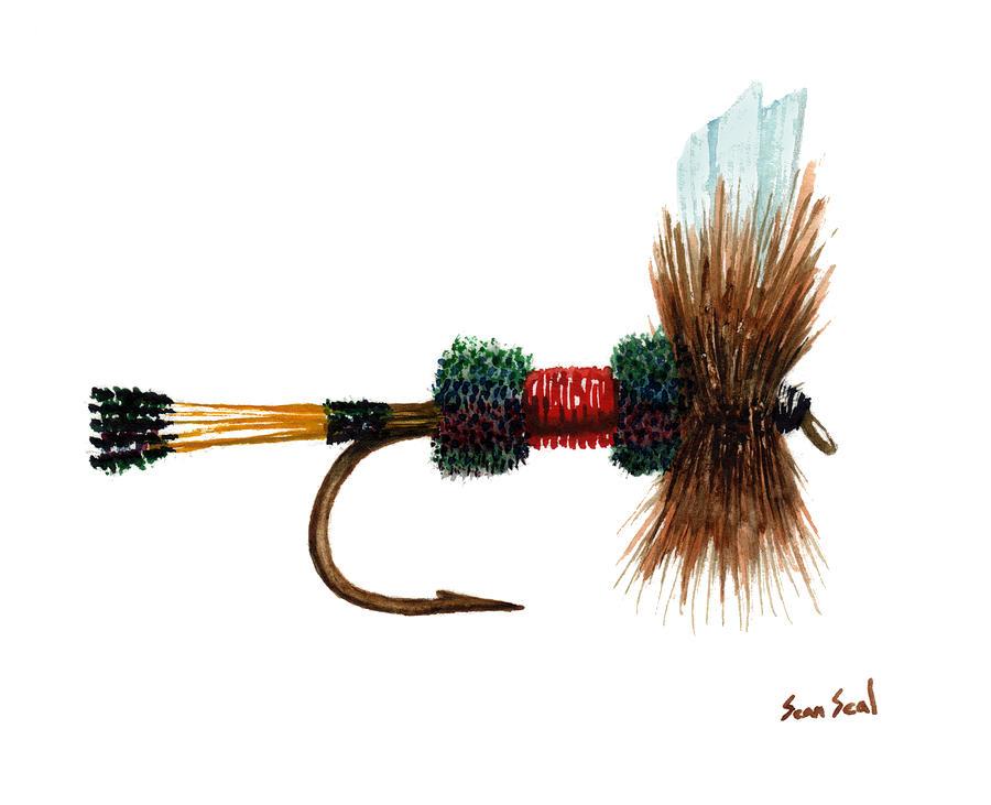 Fishing Painting - Royal Coachman Illustration by Sean Seal