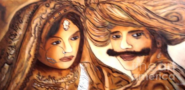 Indian Culture Painting - Royal Couple  by Sd Chopra