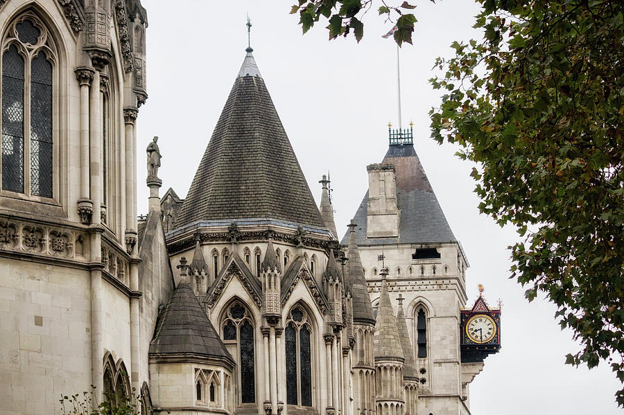 London Photograph - Royal Courts Of Justice by Shirley Mitchell