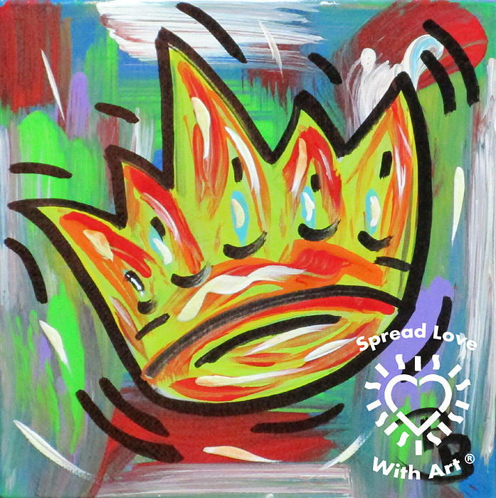 Abstract Painting - Royal Crown by Parker Beaudoin