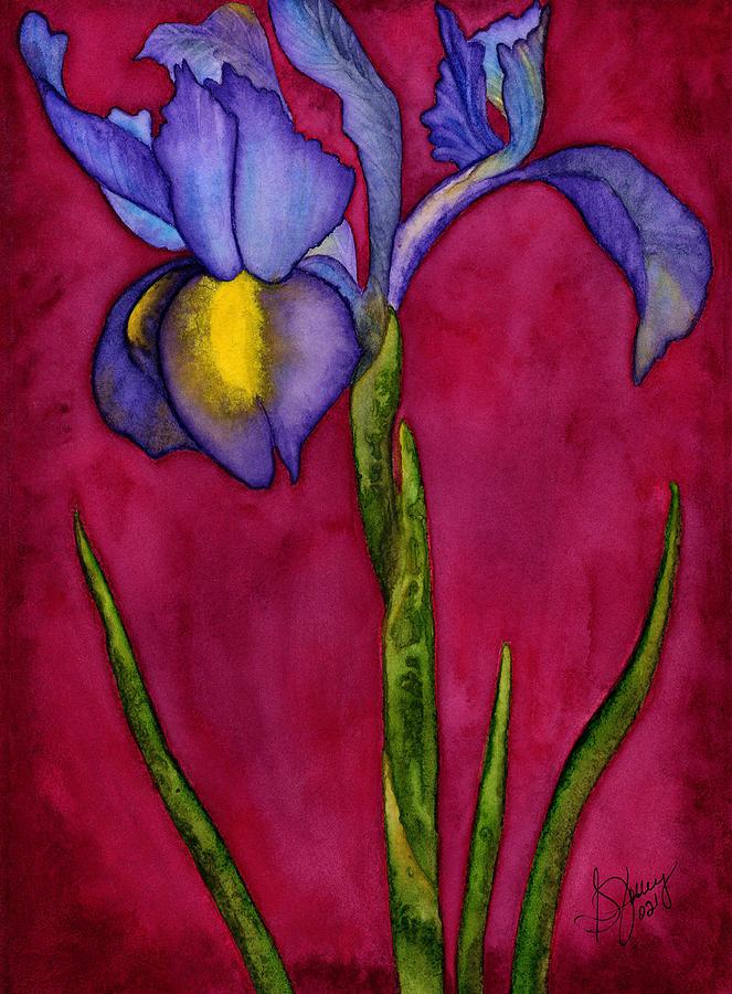 Iris Painting - Royal Dutch by Stephanie  Jolley
