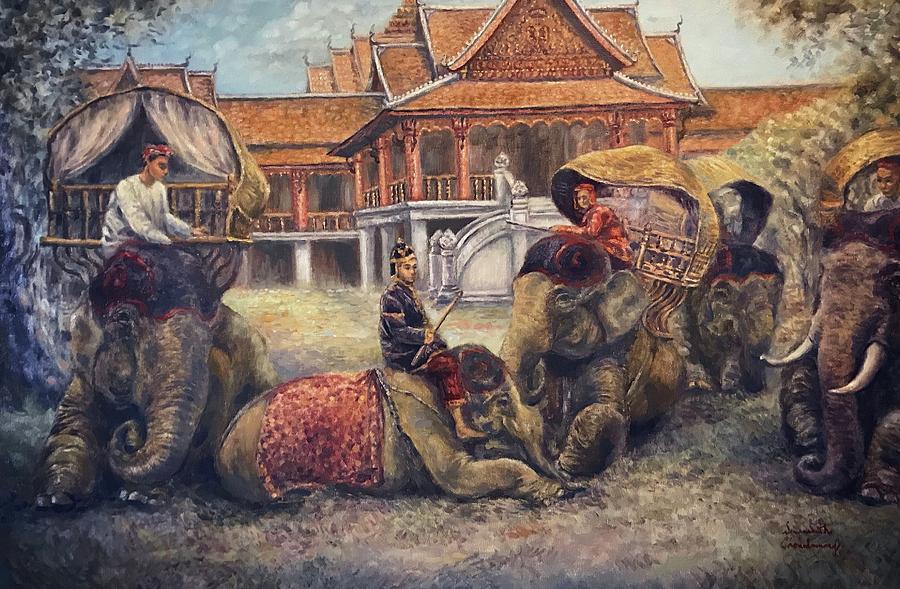Royal Elephants  by Sompaseuth Chounlamany