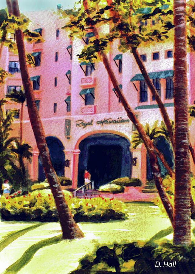Waikiki Painting - Royal Hawaiian Hotel On Waikiki Beach #131 by Donald k Hall