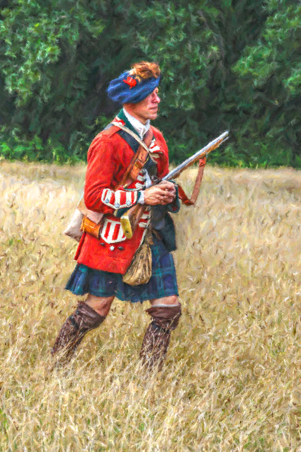 Uniform Digital Art - Royal Highlanders 77th Regiment Of Foot  by Randy Steele