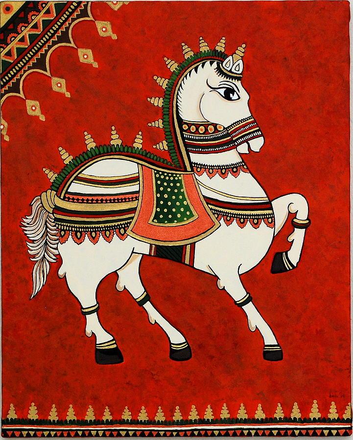 Royal Painting - Royal Horse by Bindu Viswanathan