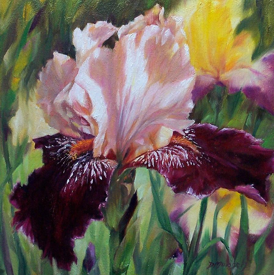 Oil Painting Painting - Royal Iris by Donna Munsch