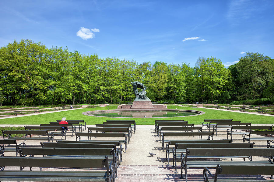 Royal Lazienki Park And Chopin Statue In Warsaw
