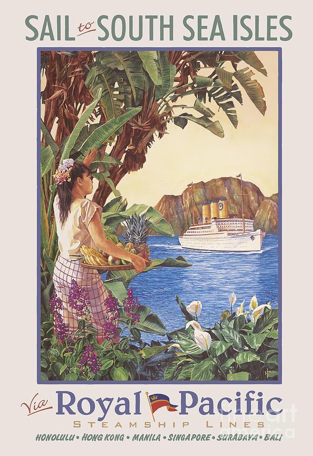 Ship Painting - Royal Pacific Travel Poster by Emmanuel De Guzman