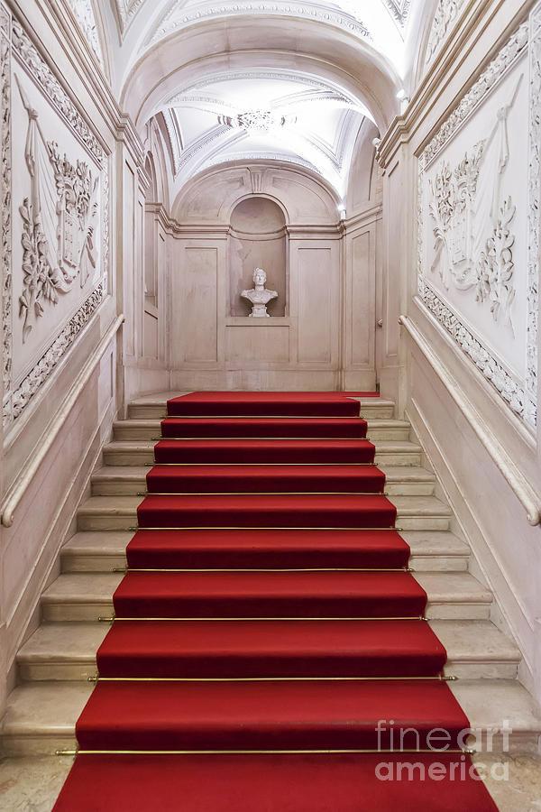 Palace Photograph - Royal Palace Staircase by Jose Elias - Sofia Pereira