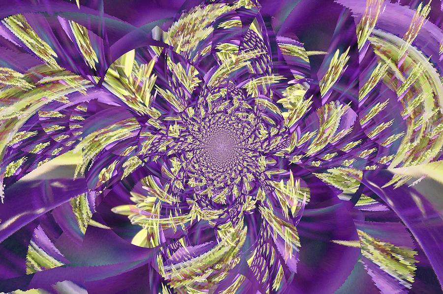 Royal Digital Art - Royal Purple  by Rose  Hill