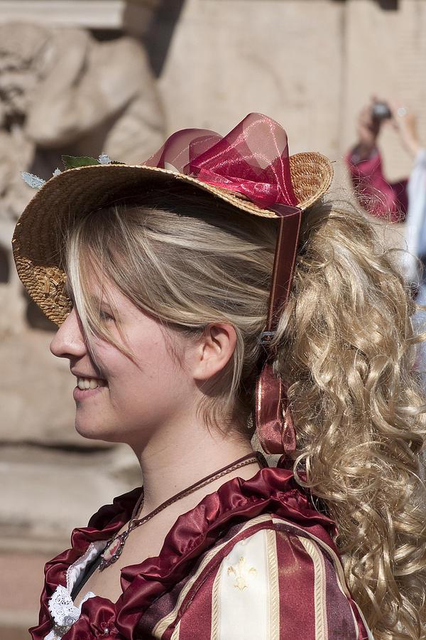Prettty Girl Photograph - Royal Renactment 2086 by Charles  Ridgway