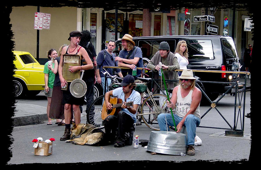New Orleans Photograph - Royal Street Musicians by Linda Kish
