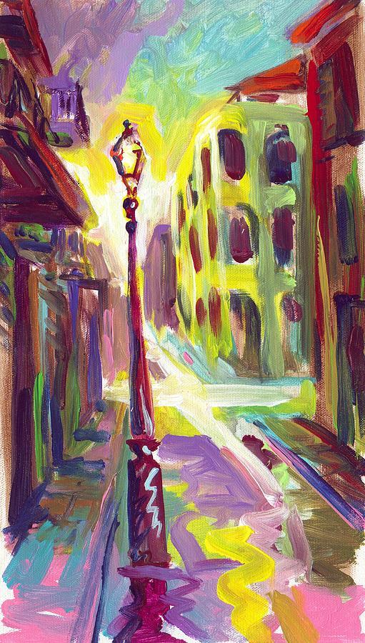 Royal Street Painting - Royal Street New Orleans by Saundra Bolen Samuel