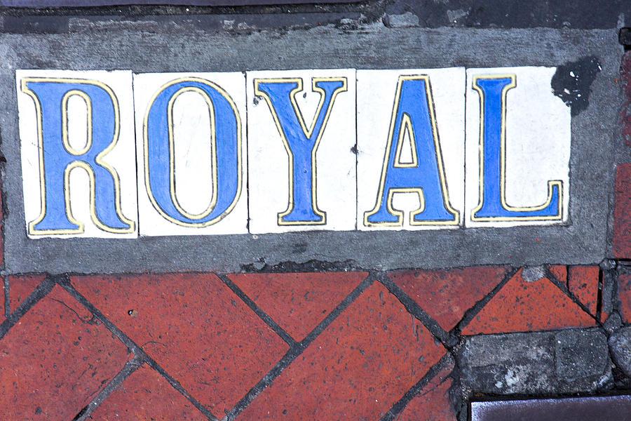 Royal Street Sidewalk Sign by Gregory Scott