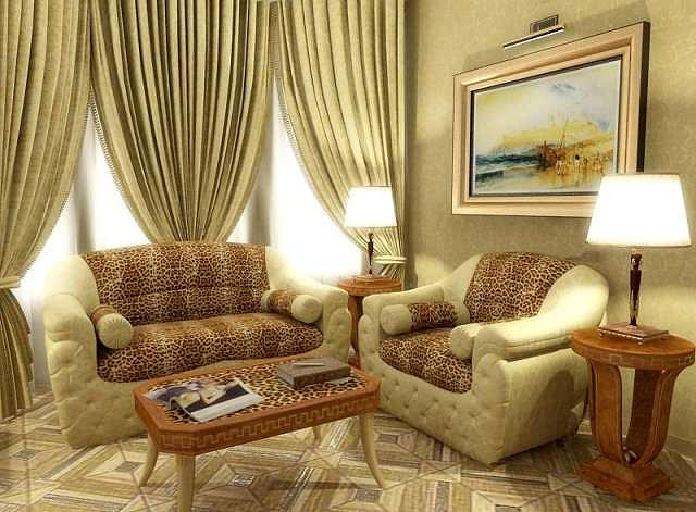 Royal Sub Living Exclusive Interior From Walid Fahmi Designs  Drawing by Walid Fahmy