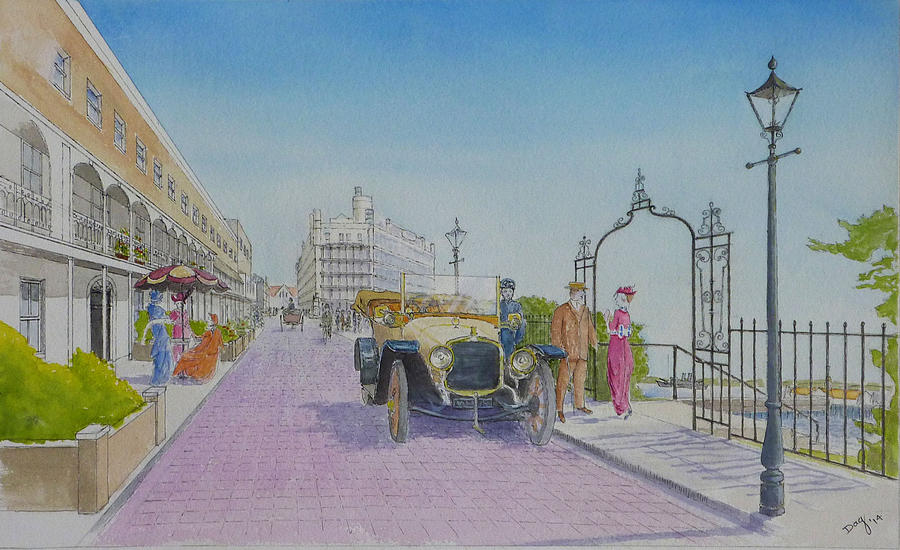 Royal terrace southend on sea painting by david godbolt for 1 royal terrace southend on sea