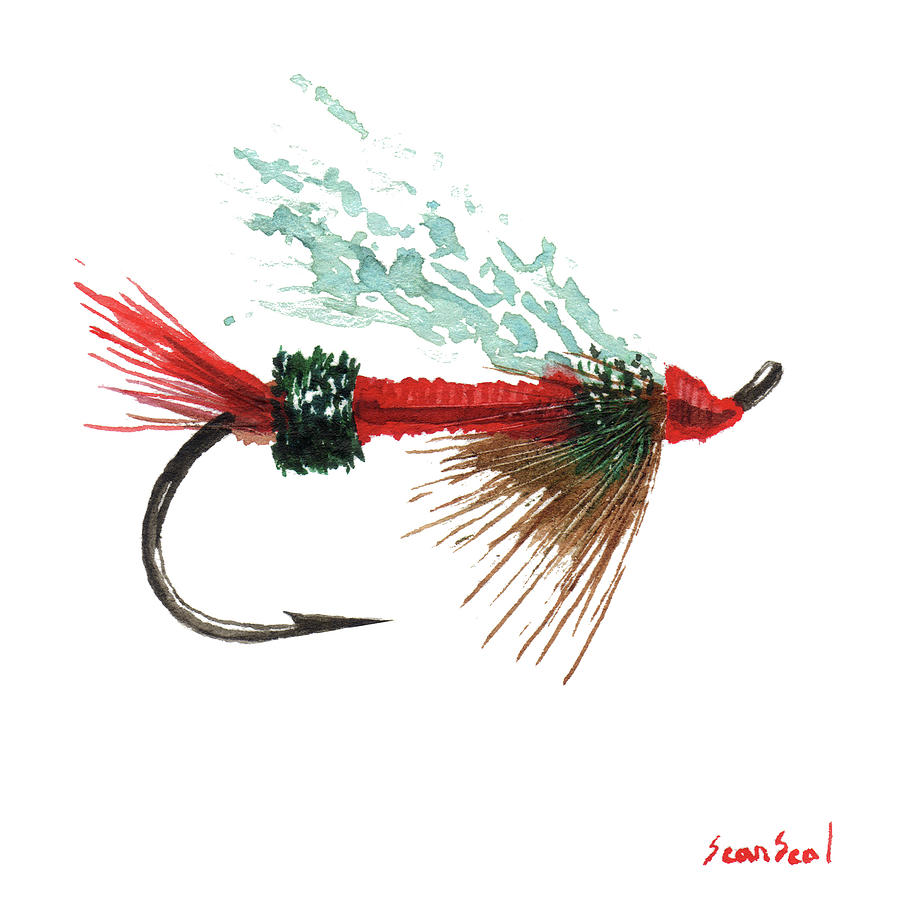 Fishing Painting - Royal Trude Salmon Fly by Sean Seal