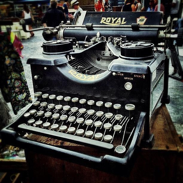 Vintage Photograph - Royal Typewriter by Natasha Marco
