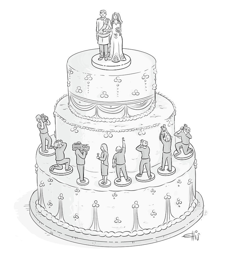 Wedding Drawings: Royal Wedding Cake By Ellis Rosen