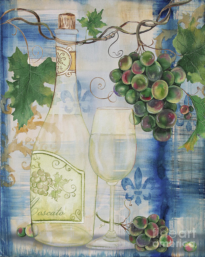 Wine Painting - Royal Wine-b by Jean Plout