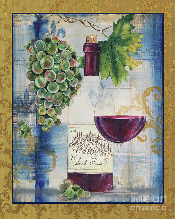 Wine Painting - Royal Wine-d by Jean Plout