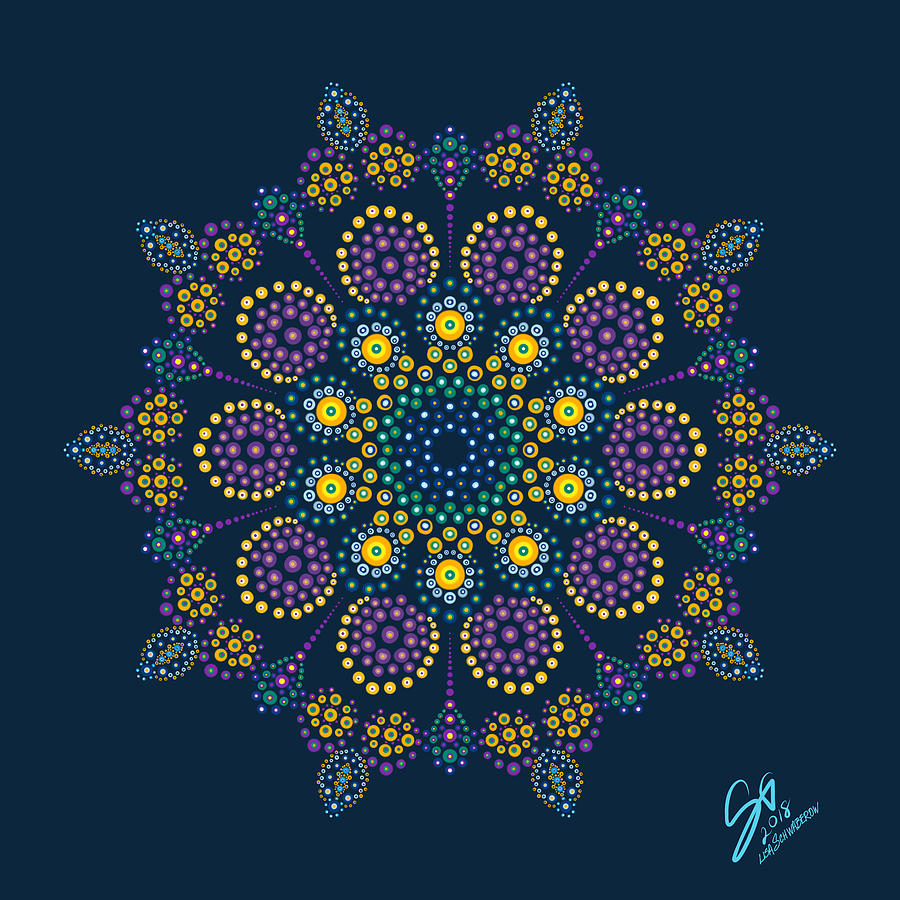 Dot Digital Art - Royalty In Blue by Lisa Schwaberow