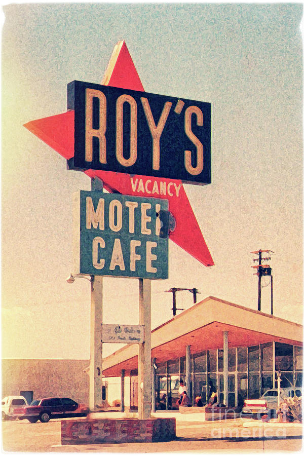 Roy's Digital Art - Roys Motel by Delphimages Photo Creations