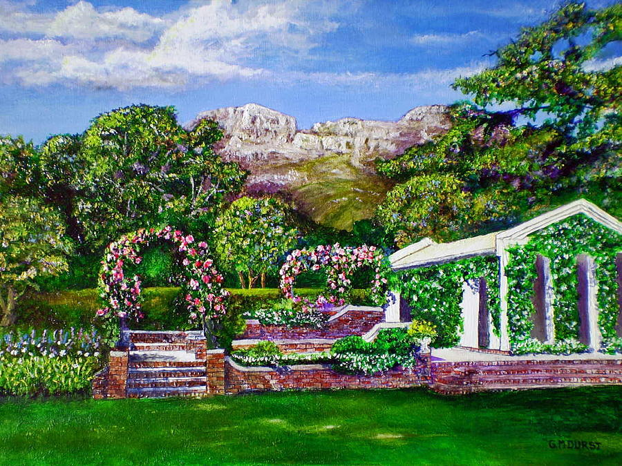 Landscape Painting - Rozannes Garden by Michael Durst