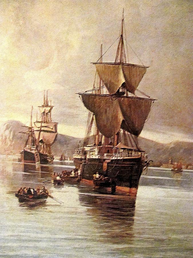 Ship Painting - Rs14 by Roberto Simeroni